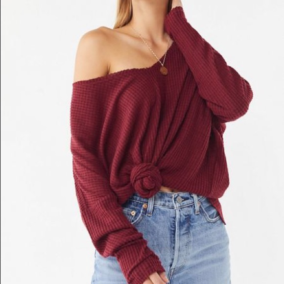 Urban Outfitters Tops - Out From Under Oversized Cozy Thermal V-Neck Top